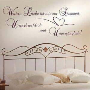 Wandtattoo spruch wandspruch wahre liebe swarovski wohnzimmer schlafzimmer zit13 ebay - Schlafzimmer swarovski ...