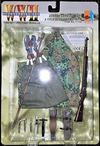 DRAGON 1//6 Scale WW II German Camo Zeltbahn Champ ACCS Set 1-71117