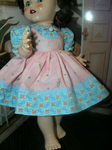 2-pc-Pink-Dress-Bloomer-Set-Doll-clothes-fits-16-034-Ideal-Saucy-Walker-or-Pedigree