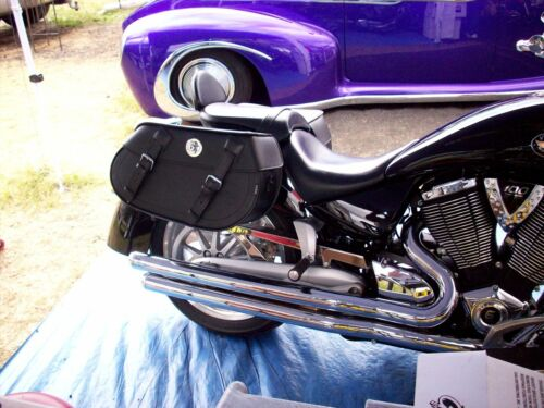 108 Motorcycle Tek Leather Saddlebags Luggage Harley Dyna Softail Triumph USA