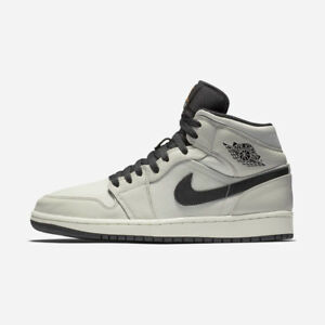 4e9244225660a7 NIKE AIR JORDAN 1 MID PREMIUM CANVAS 852542-002 LIGHT BONE CONE ...