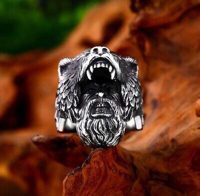 Harley Davidson Ring 10 = 20 mm Farbe Schwarz Edelstahl Biker