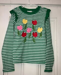 ba55f632487d9f Image is loading Hanna-Andersson-Girls-Green-White-Striped-Floral-Ruffled-