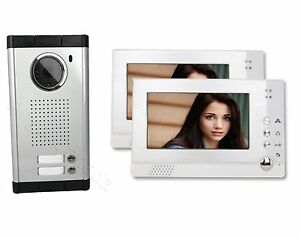 Image Is Loading Two Units Apartment Color Video Intercom Doorbell Visitor