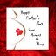 Father/'s Day Card for new Dad from bump unborn baby from pregnant Mum dark skin