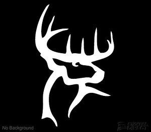 Buck-Commander-Deer-Decal-Vinyl-Sticker-150mm-Utes-Cars-Hunting-Buy-2-Get-1-Free