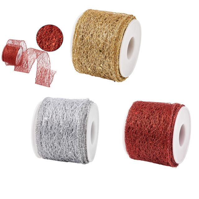 Glitter Velvet Ribbon Wedding Christmas Gift Wrap Assorted Colours 10 20 25mm