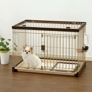 Image Is Loading Richell Usa Easy Clean Pet Crate Small Dark