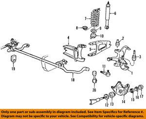 ford oem 93 95 f 150 front suspension shock absorber 5u2z18v124xa ebay rh ebay com 1999 F150 Front Suspension Diagram 2003 F150 Front Suspension Diagram