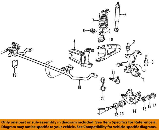 E1tz3b095b Left Front Radius Arm Bracket 95 Ford Bronco Driver Side