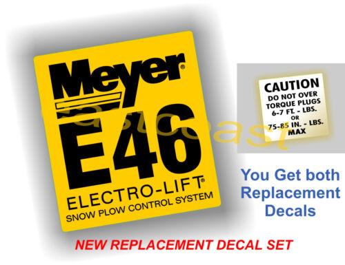 MP7 2 Meyer Electro Pump Snow Plow decals 1 Mini Torque 1 Meyer E46 Pump E-46
