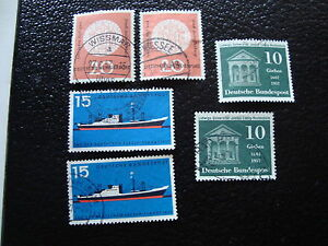 Germany-Rfa-Stamp-yt-N-134-136-137-x2-Obl-Stamp-Germany