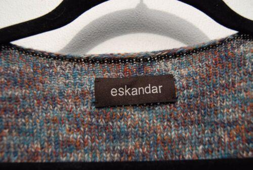 1695 Sweater O Blå Collar Mid Eskandar Drape Ny Melange Cashmere Vægt S PZx1qW8w