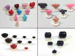 PLASTIC BACKS NOSES - Character Animal Safety Nose for Soft Toys & Teddy Bears