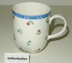 Villeroy-amp-Boch-Adeline-Kaffeebecher-7-5-H-9-8-Henkelbecher-hohe-Tasse-hoch