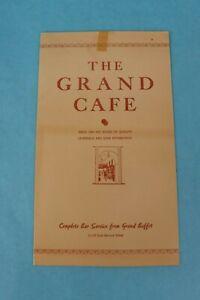 VINTAGE 1949 THE GRAND CAFE SOUVENIR RESTAURANT DINNER MENU RENO, NEVADA