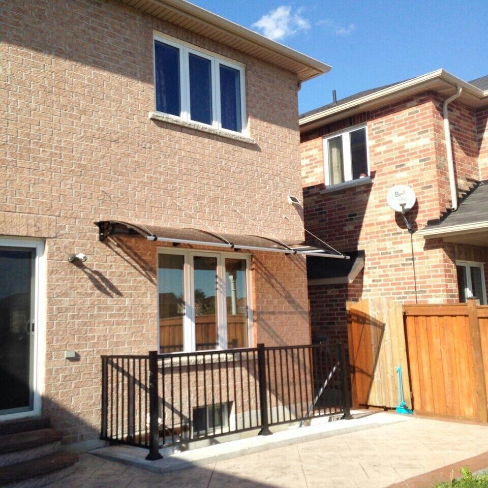 1000x3500mm 1000x3500mm 1000x3500mm DIY Door Canopy Polycarbonate Cantilever Garden Porch Patio Walkway 192efc