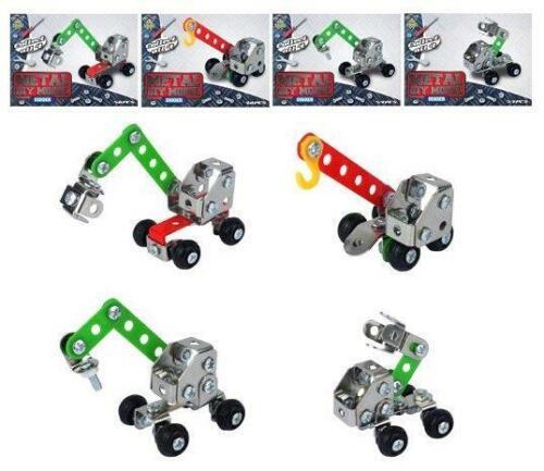 DIY Assemble Metal Model Toy Kits Racing Car Digger Building Puzzle