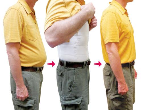 Men Body Slimming Tummy Belly Shaper Underwear shapewear Waist Girdle Shirt Vest