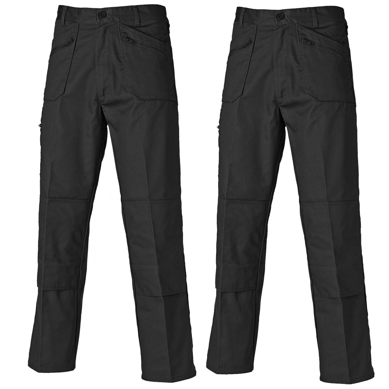 Dickies Redhawk confezione doppia azione più Tasca Pantaloni Nero (Varie dimensioni)