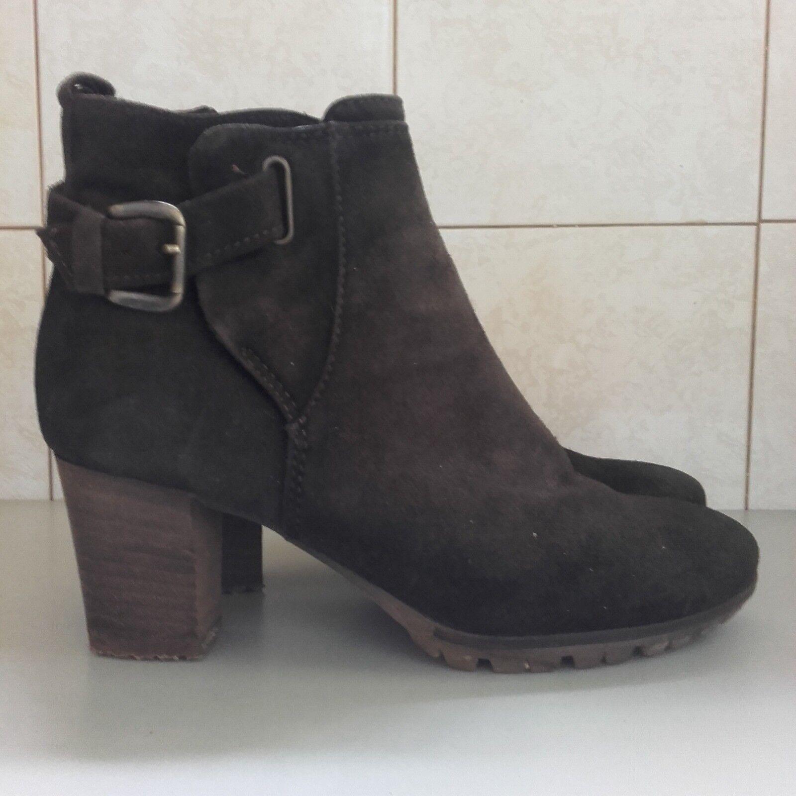 Stivaletti donna stivali MANAS pelle scamosciata marrone stivali donna stivale tronchetti 907c36