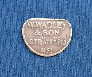 Vintage W Wadley & Son, Stratford Market One Shilling Metal Token C1940s