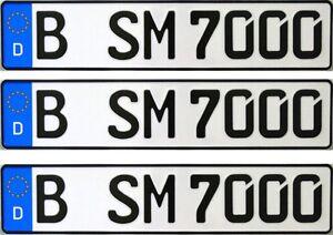 3-Stk-Kfz-Kennzeichen-Autoschilder-Nummernschild-fuer-Anhaenger-Fahrradanhaenger