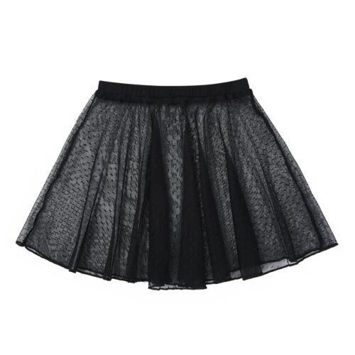 Wrap Tutu Skirt Costume Girls Ballet Dance Dress Outfit Kids Gymnastics Leotard