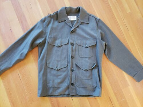 Vintage Filson Green Wool Military Shirt 44