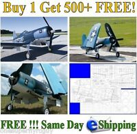 F4u Corsair Giant Scale Rc Airplane Full Size Plans & Templates In Pdf Format