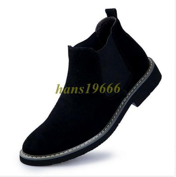 Mens Slip On Suede Chelsea Ankle Boots Cotton Casual Warm Desert Casual shoes be