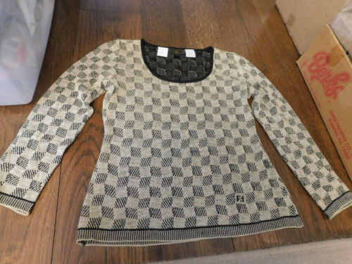 Authentic Fendi Vintage Zucca FF Logo Knitted Swea