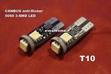 2X white T10 wedge 3-SMD LED 12v CANBUS SAMSUNG light bulbs w5w 192 194 168 RV M