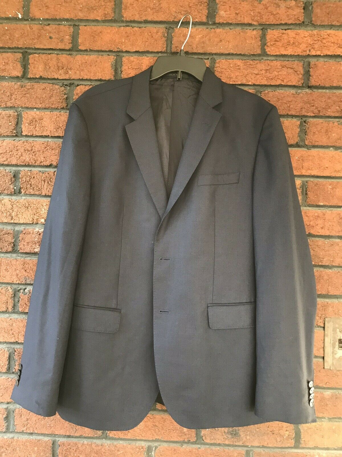 Hugo Boss DRAGO Super 130 Mens Navy 2 Button Closure 100% Wool Blazer Suit 42 R
