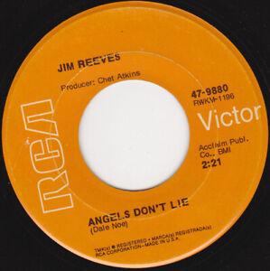 """JIM REEVES - Angels Don't Lie  7"""" 45"""