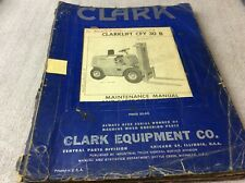 Clark Equipment Clarklift Cfy 30 B Maintenance Amp Parts Book Manual Forklift