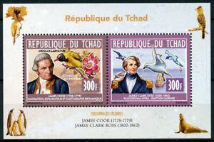 Chad-2013-Gomma-integra-non-linguellato-capitano-James-Cook-Clark-Ross-2v-M-S-BIRDS-esplorazione-SU