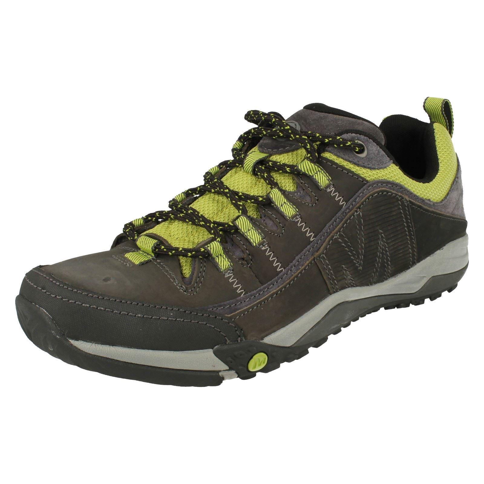 Mens Merrell  Helxer Distors Castle Rock Leather Walking  Hiking scarpe  consegna lampo