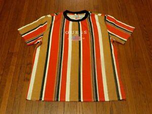 e2147a5bd62e Men's Guess Jeans Los Angeles David Sayer Oversized Striped T-Shirt ...