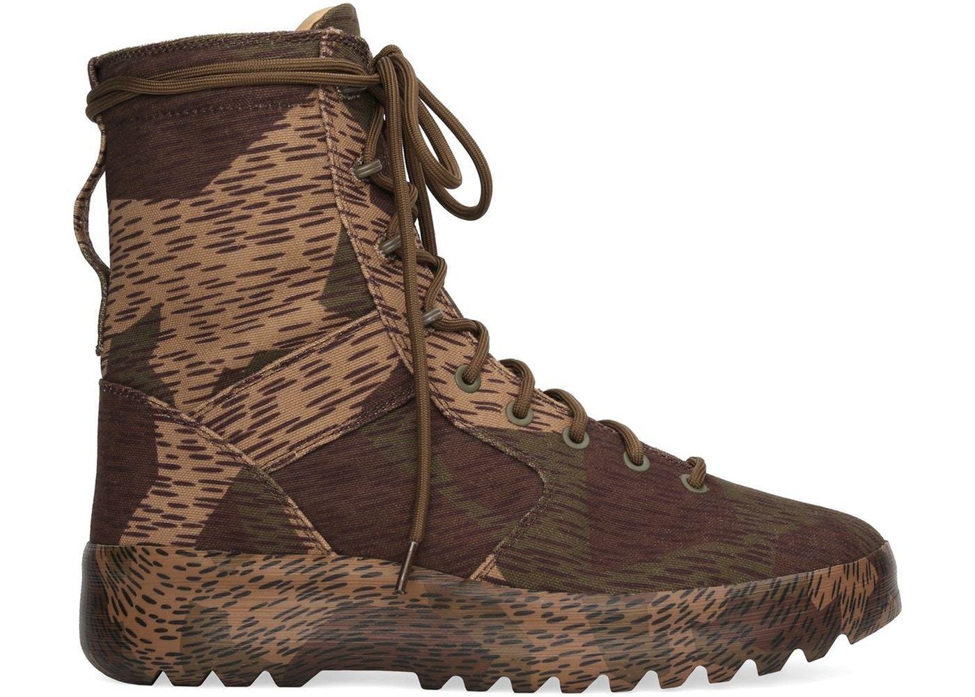 Yeezy Washed Canvas Military Boot Season 6 Splinter Camo Size 8.