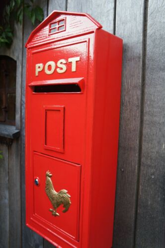 Wunderschöner Roter Briefkasten Postkasten Wandbriefkasten  Post Brief Haus