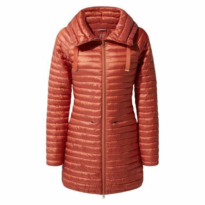 Nueva chaqueta para mujer Mull en  Craghoppers-WARM Ginger Talla 8  salida
