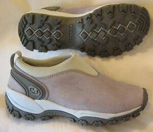 Ropa, Calzado Y Complementos Merrell Satellite Ante Moc Zapatos Wmns Sz 7 Eur 37.5 Estaño Gris Attractive And Durable
