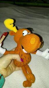 10 inch Stuffins Bullwinkle moose doll plush! Euc! Universal studios. Gift!