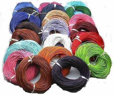 3/10M Real Leather Cord String Cord Charms Rope 1.5/ 2.0mm Necklace Making