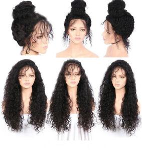 26-034-Bresilien-Perruque-De-Cheveux-Densite-Full-Lace-Front-Wig-Noir-Pour-Femme