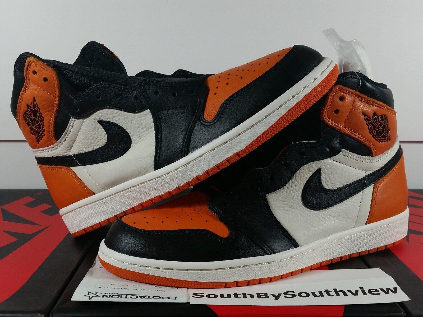 Nike Air Jordan 1 Shattered Backboard 1.0 OG I Retro orange Black 555088-005 DS