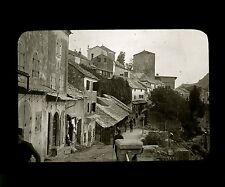 Bosnie c. 1900 - MOSTAR Le Quartier Turc - Verre Positif - 77