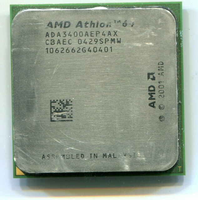 Amd Athlon 64 3400 2 4 Ghz Ada3400aik4bo Processor For Sale Online Ebay