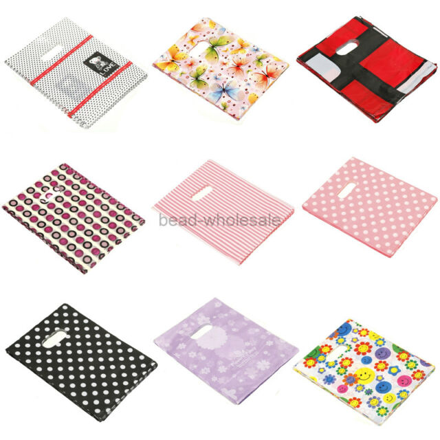 100pcs Pretty Pattern Plastic Jewelry Gift bag  Shopping bags 20X15CM